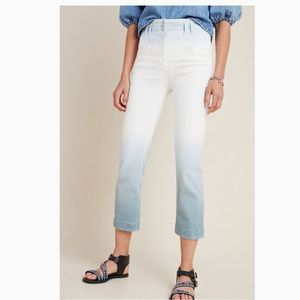 Anthropologie High-Rise Dip-Dyed Slim Jeans